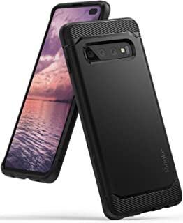 "Ringke Onyx Compatible with Galaxy S10 Plus Case Extreme Tough Compatible Rugged Flexible Protection Durable Anti-Slip TPU Heavy Impact Shock Absorbent Case for Galaxy S10 Plus (6.4"") - Black"