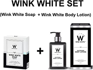 WINK WHITE SET (Wink White Soap 80G + Wink White Body Lotion 200ML) by Madam A