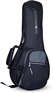 Crossrock A-Style Mandolin Gig Bag with 10mm Padding, Backpack Straps, Black/Grey (CRSG106MABG)