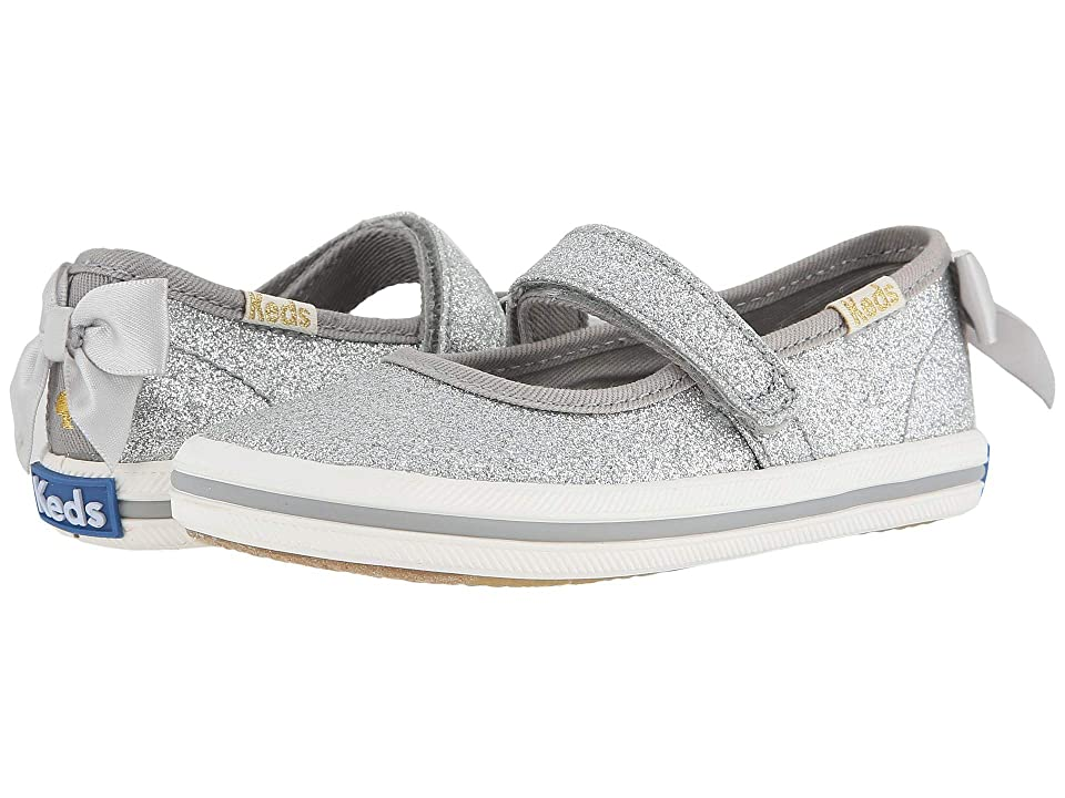 Keds x kate spade new york Kids Sloan MJ (Toddler/Little Kid) (Silver) Girl