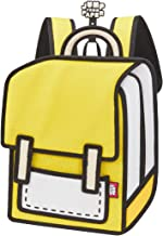 JumpFromPaper Junior MinionYellow Backpack, Kid, Petite, 2D bags, Cartoon bags, jump from paper