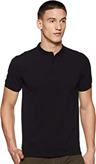 Amazon Brand - Symbol Men's Solid Regular Polo Shirt