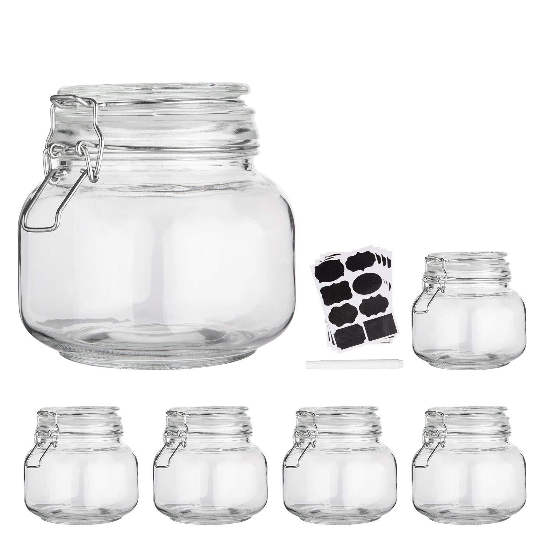 Amazon.de: Glas-Aufbewahrungsdosen für die Küche mit Deckel, 15oz