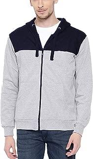 ADRO Men's Cotton Zipper with Hooded Sweatshirt