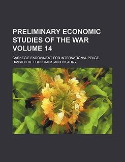 Preliminary Economic Studies of the War Volume 14