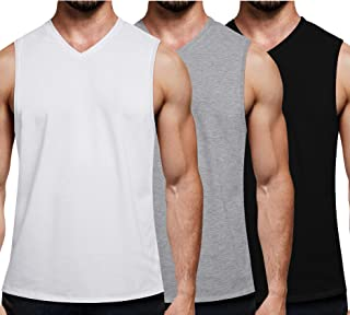 COOFANDY Men's 3 Pack Workout Tank Top V Neck Muscle Shirt Gym Bodybuilding Sleeveless T Shirts