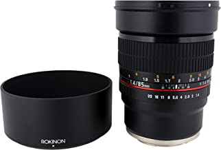 Rokinon 85M-FX 85mm F1.4 Ultra Wide Fixed Lens for Fujifilm X-Mount Cameras