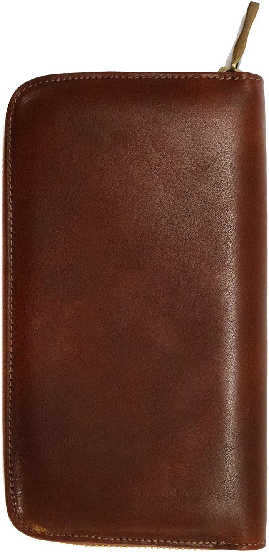 Floto Italian Leather Venezia Zip Wallet Checkbook Clutch