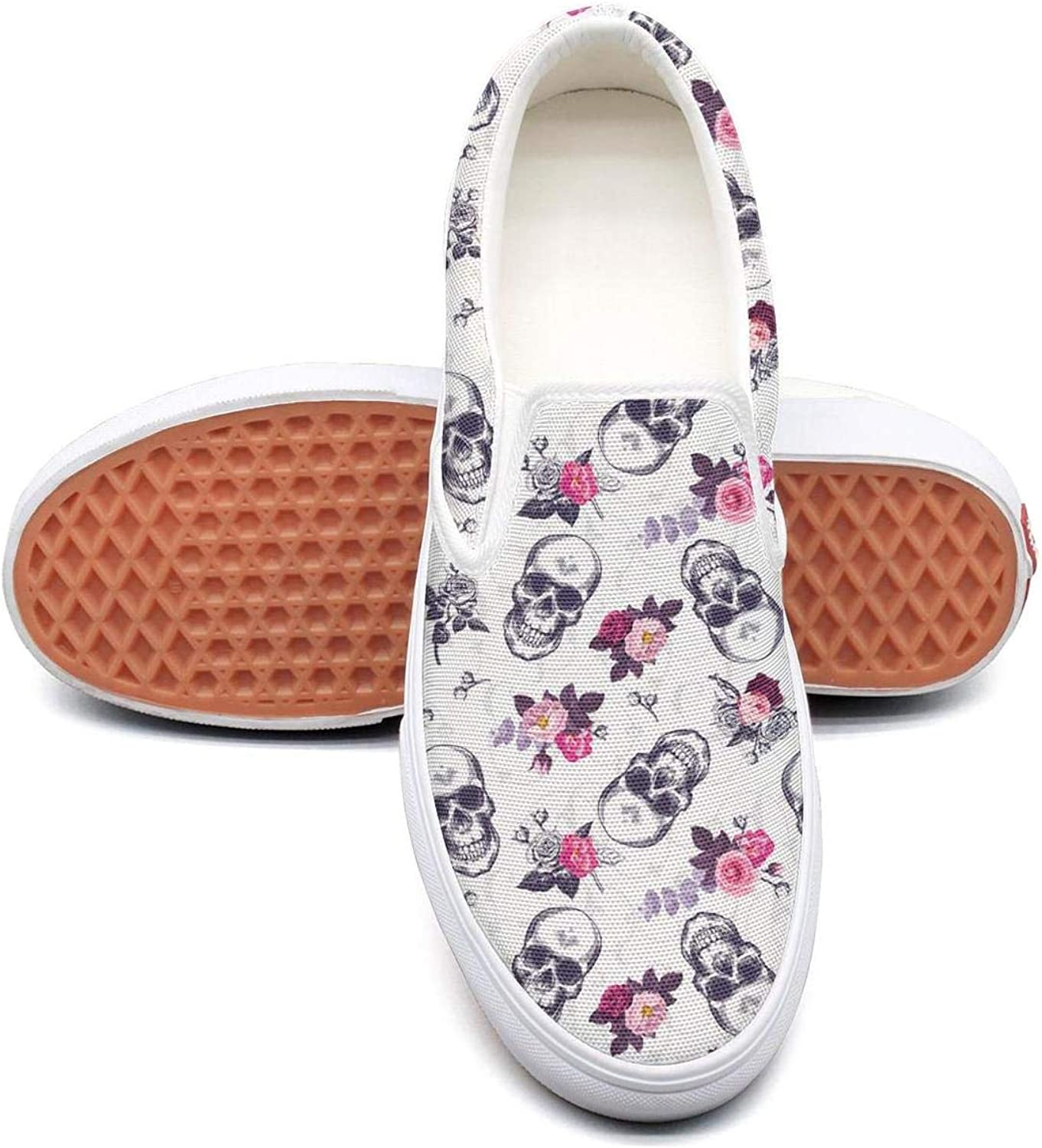4cd4daf054dd3 colorful Skull coloring Book Womens Slip On Loafers shoes Fashion ...
