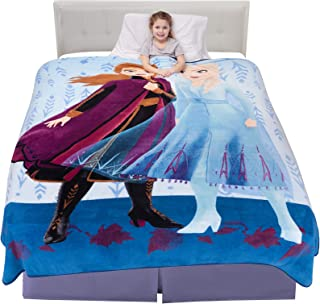 "Franco Kids Bedding Super Soft Plush Microfiber Blanket, Twin/Full Size 62"" x 90"", Disney Frozen 2"