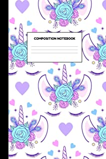 Composition Notebook: Delightful Unicorn School Supplies for Girls - College Ruled Paper Notebook Journal Blank Lined Workbook for Teens Kids Students for Home School for Writing Notes