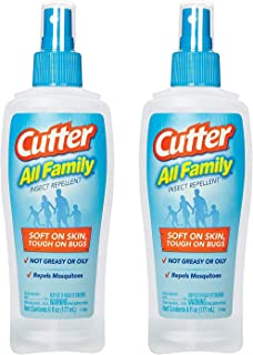 Cutter 51072 6-Ounce All Family Insect Repellent Pump Spray, Case Pack of 2