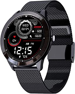 """Maxima Max Pro X4 Smartwatch with SpO2, Up to 15 Day Battery life, 1.3"""" Round Full-touch Display with Ultra Bright Screen ..."""