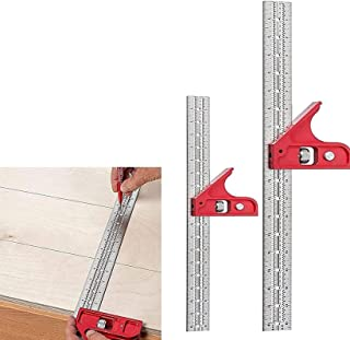 Combination and Double Square Woodworking Tools,Woodpeckers Tools Combination Adjustable Squares,Carpenter Square, Woodwor...