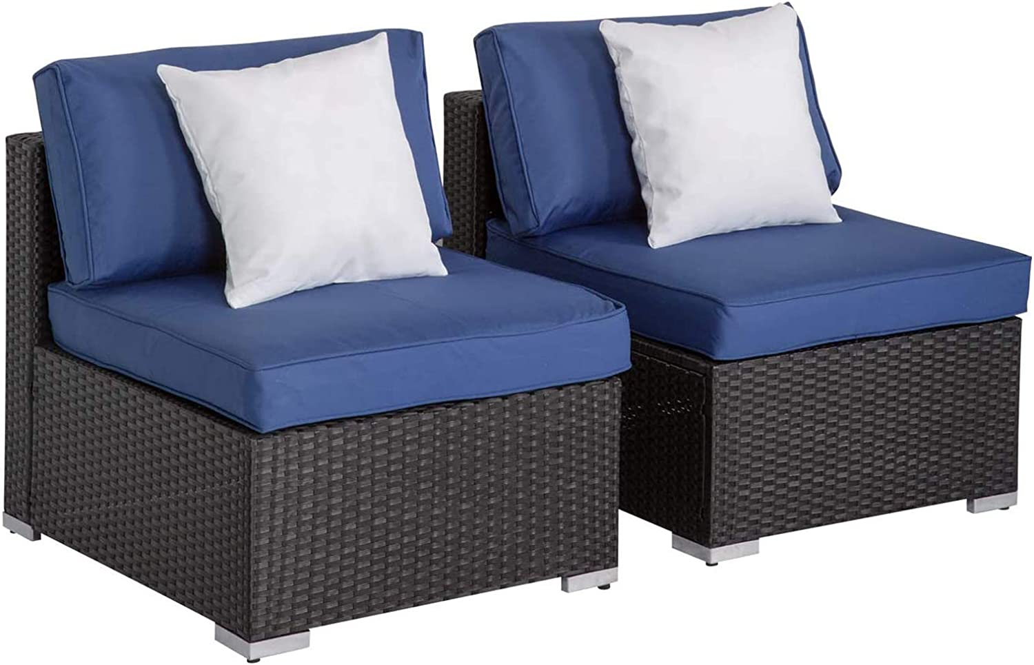 Peach Tree Outdoor Loveseat 2 PCs Direct sale of manufacturer Set Wicker Ar Gifts Patio Furniture