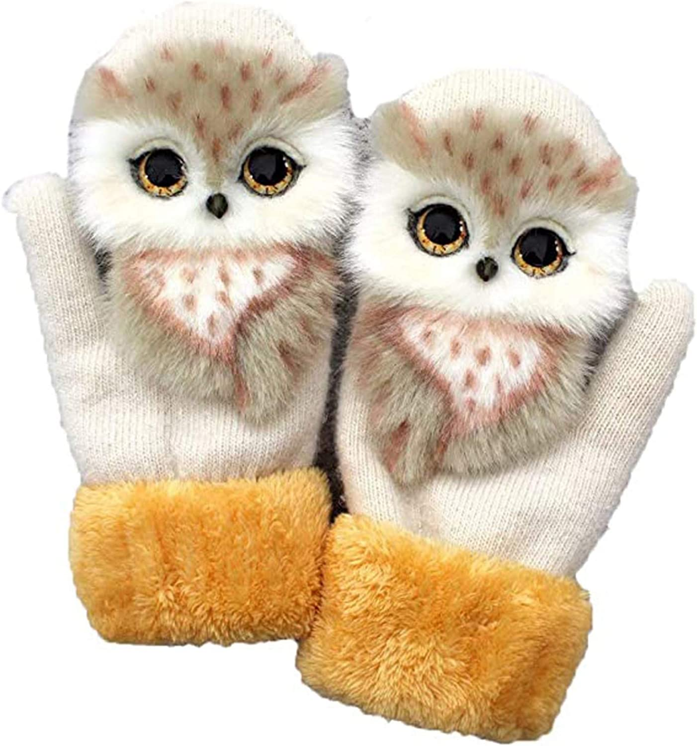 Yuanl Winter Cute Cartoon Animal Gloves Warm Windproof Gloves Driving Shopping 9 type Choice for Women