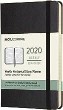 モレスキン 手帳 2020年 1月始まり 12ヶ月ウィークリーダイアリー ホリゾンタル(横型) ハードカバー ポケットサイズ ブラック DHB12WH2Y20-e