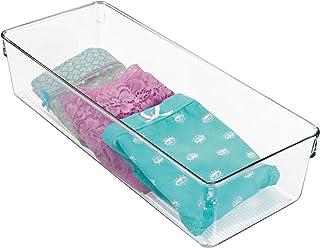InterDesign Linus boite tiroir pour armoire ou coiffeuse, moyenne boite de rangement plastique de 30,5 cm x 12,7 cm x 7,6 ...