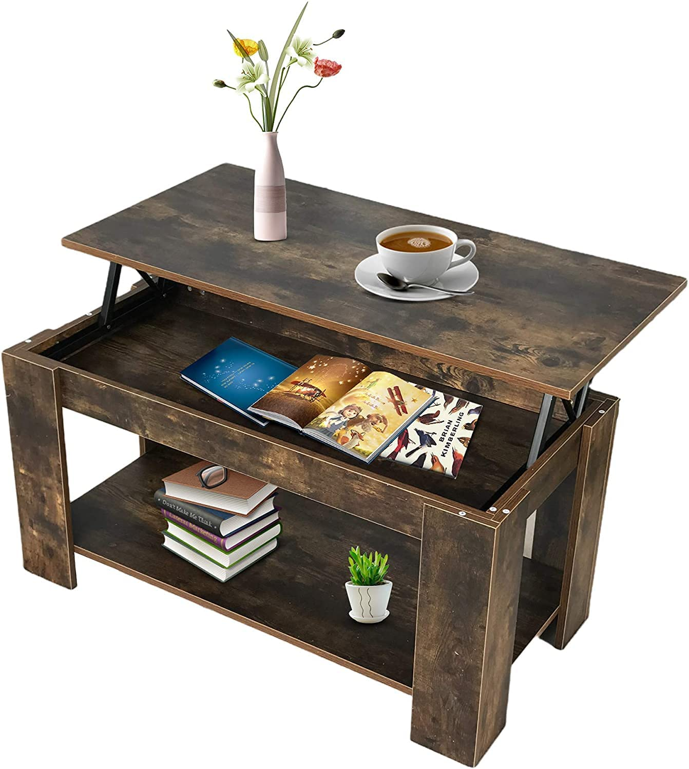 Comfortable Home Special sale item Lift Top Coffee with Table New Free Shipping a Compartment Hidden