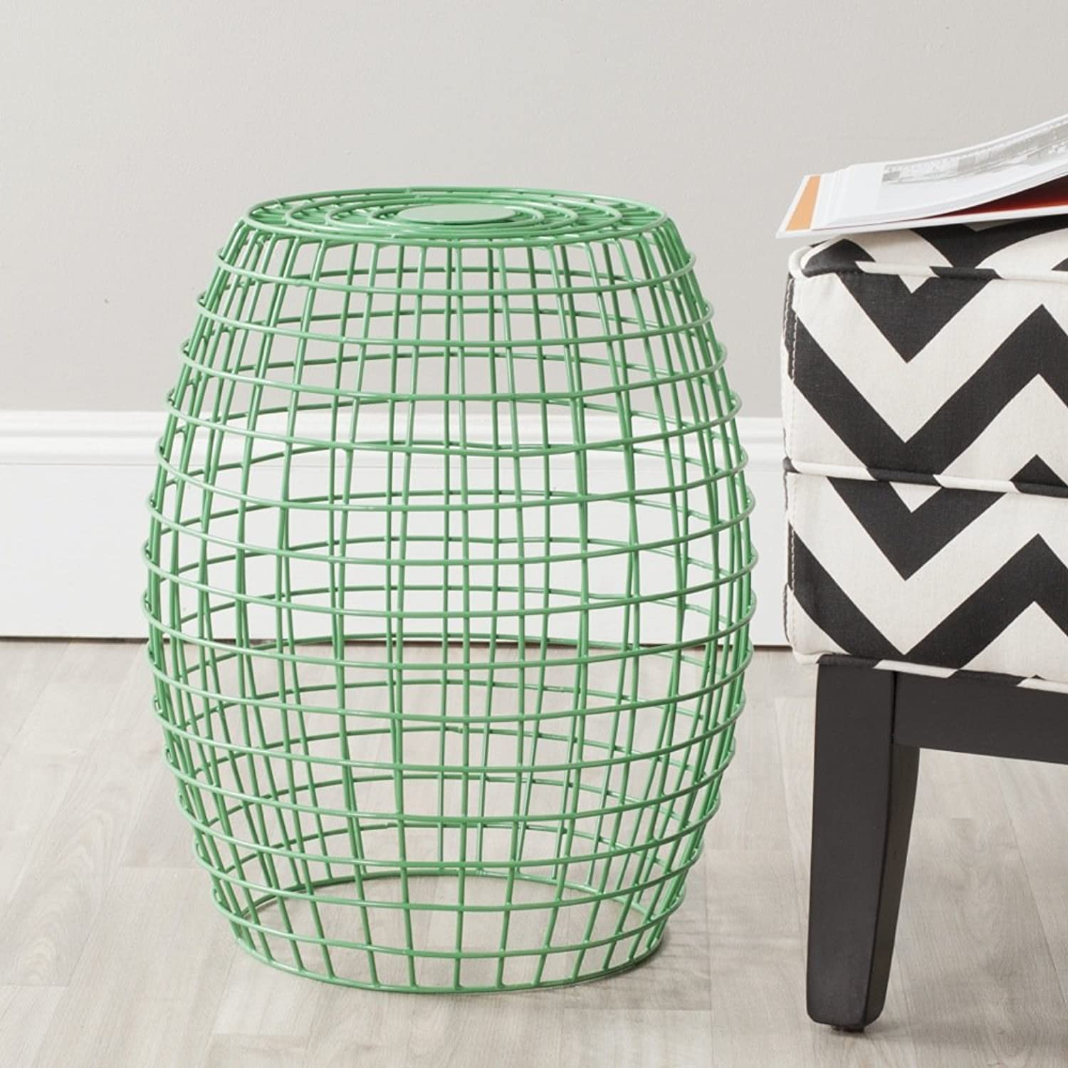 Safavieh Home Collection Eric Green Grid Stool