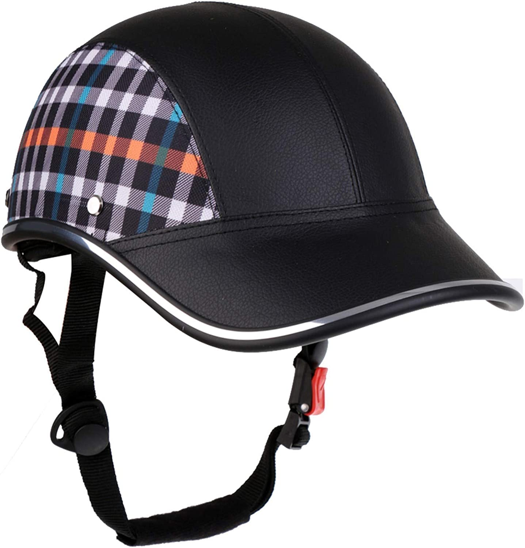 New Orleans Mall Half Helmet Brain OFFicial shop Cap Retro Pedal C DOT Motorcycle