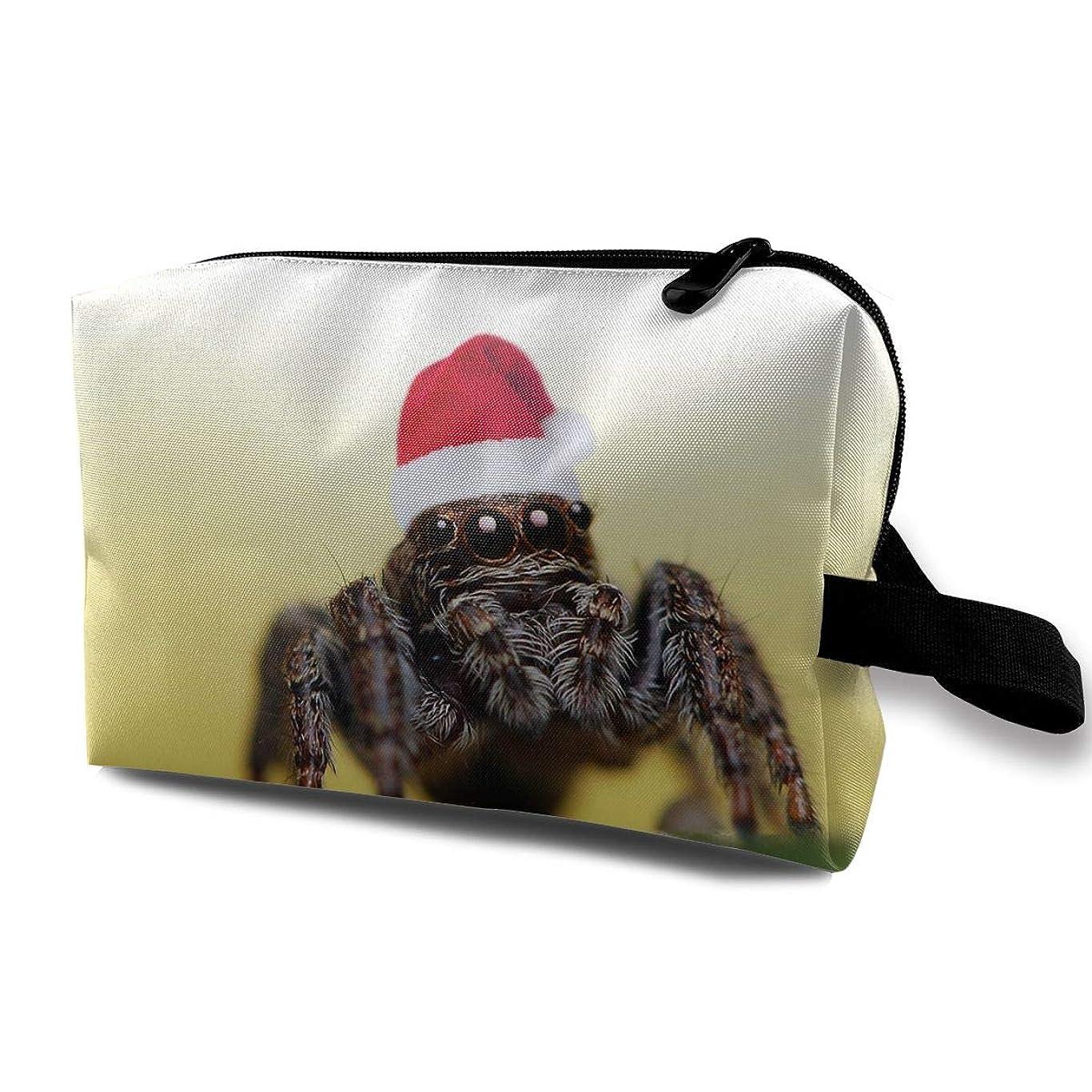 フォルダ実験的口レディース 化粧ポーチ 旅行収納ポーチ トイレタリーバッグ 蜘蛛プリント コスメ メイクポーチ ハンドバッグ 大容量 化粧品 鍵 小物入れ 軽い