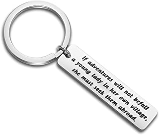 Jane Austen Quote Keychain If Adventures Do Not Befall Travel Gift Book Lover Gift Literary Gift
