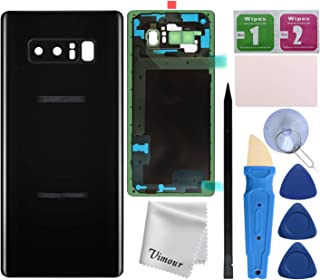 Vimour Back Cover Glass Replacement for Samsung Galaxy Note 8 N950U All Carriers with Pre-Installed Camera Lens, All The A...
