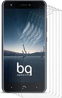 MoEx klar skyddsfolie för BQ Aquaris X Pro, 5 x Stück, transparent