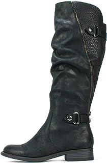 [White Mountain] Womens leto Almond Toe Knee High Fashion Boots [並行輸入品]