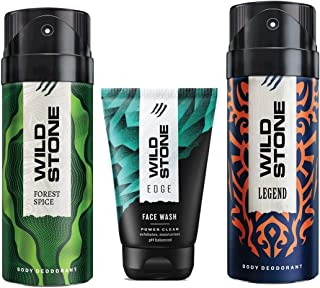 Wild Stone Edge Facewash, Forest Spice and Legend Deodorant