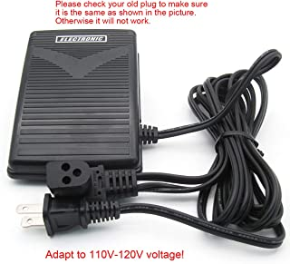 KUNPENG -3 Prong Power Cord Foot Pedal Control FIT for Singer Sewing Machine #979314-031 110V