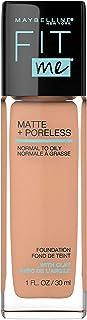 Maybelline Fit Me Matte + Poreless Liquid Foundation Makeup, Classic Beige, 1 fl; oz; Oil-Free Foundation