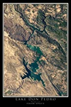 Lake Don Pedro California Satellite Poster Map M 16 x 24 inch