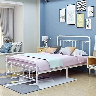 iron bed frames white