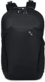 Pacsafe Vibe 20 Liter Anti Theft Travel Daypack - Fits 13 inch Laptop - With Lockable Zippers, Jet Black