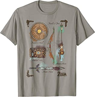 Zelda Breath Of The Wild Link Inventory Graphic T-Shirt