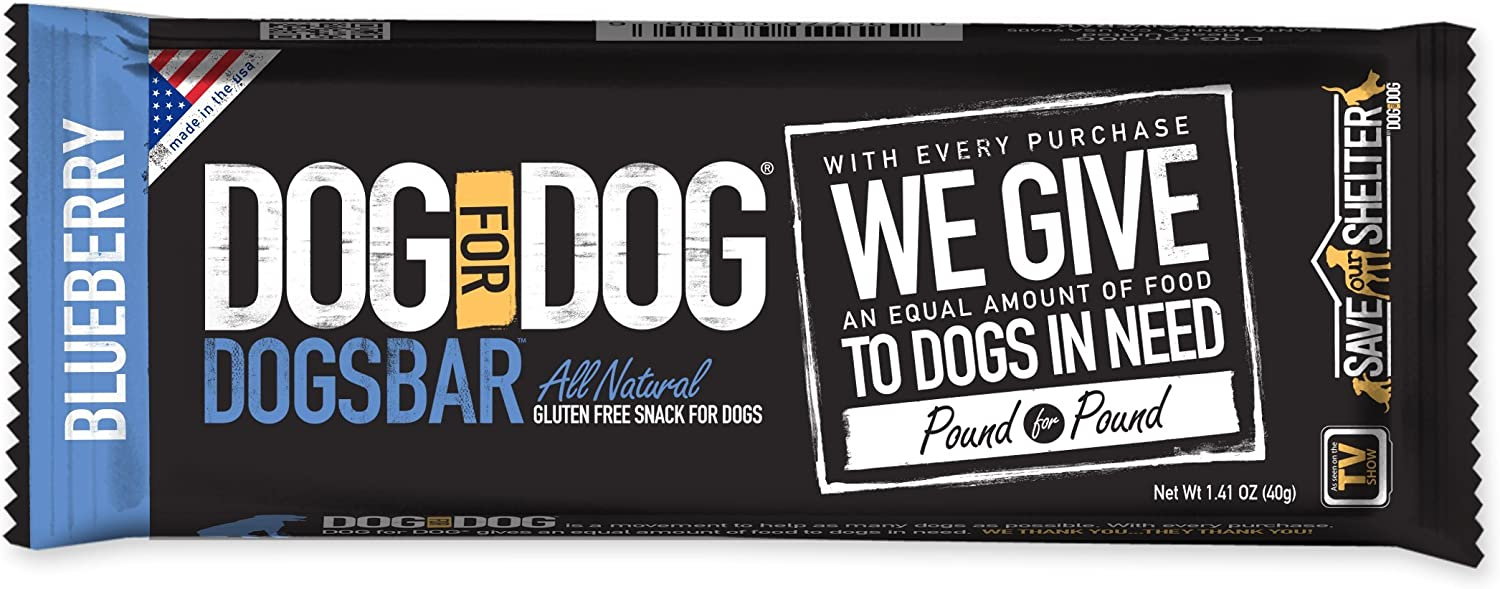 DogForDog DOGSBAR blueeberry 12 X 1.59Ounce Counter Display