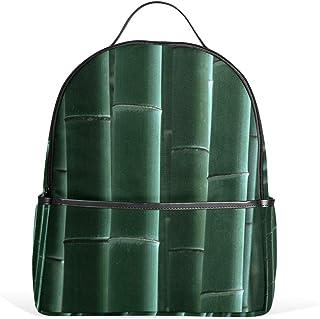 Dunkelgrüner Bambus-Schulrucksack, Segeltuch-Rucksack, große Kapazität, lässiger Reise-Tagesrucksack für Kinder, Mädchen, Jungen, Kinder, Studenten