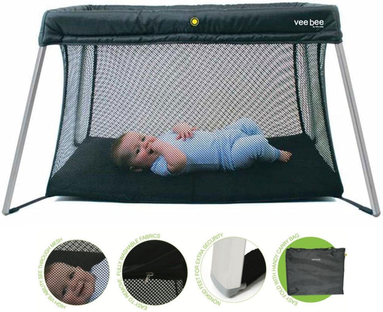 Vee Bee Amado Newborn Baby Portacot Travel Foldable Portable Cot Bed Mattress