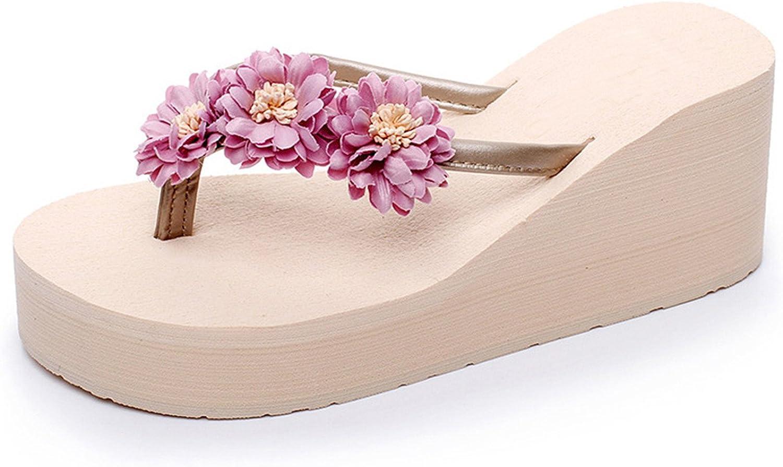 Joddie Haha Sandals Beach Flowers Flip Flops 2018 New Wedges Slides Casual Platform shoes Woman Slip On Creepers Slippers HL689