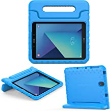 MoKo Compatible con Galaxy Tab S3 9.7 Funda - Portátil Shock Proof Lightweight Kids Protector Parachoque Cover Case con Manija - Azul