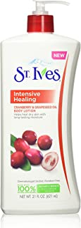 St Ives Intensive Healing Body Lotion, Cranberry and Grapeseed Oil, 21 Ounce (3 Pack)