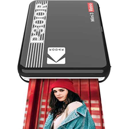 コダック(Kodak)Mini 3レトロ インスタントフォトプリンター ワイヤレス接続 iOS/Android/Bluetooth対応 ラミネート加工 ブラック