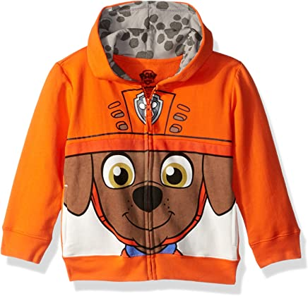 Nickelodeon Toddler Boys' Paw Patrol Character Big Face Zip-Up Hoodies
