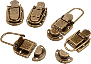 Nologo SSB-DAKOU, 5 stuks vintage slot antiek brons haspe sieraden borst box gift box case case gespen haspe latch vanger ...