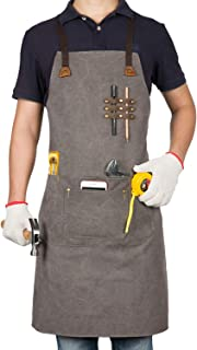 Apron Denim 3 Pockets Adjustable Work Shop Industrial Crafts School Home Kitchen