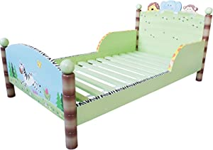 Fantasy Fields Teamson Sunny Safari Childrens Wooden Kids Toddlers Bed Mattress TD-0086A