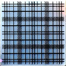Kwan Crafts Stripe Pattern Plastic Embossing Folders for Card Making Scrapbooking and Other Paper Crafts,15x15cm