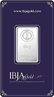 IBJA Gold Investment 50 gm Silver Coin Frames for Women (IG50GMS999INVBR054)